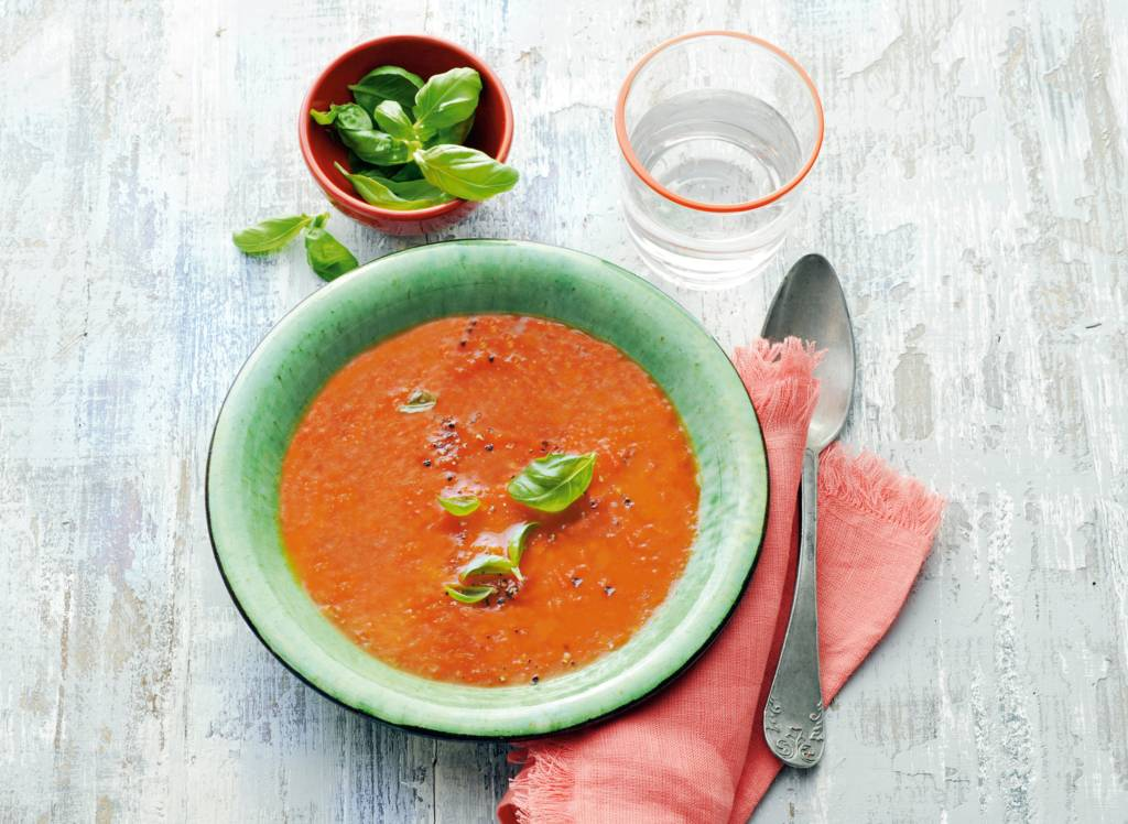 Tomatensoep met verse tomaten