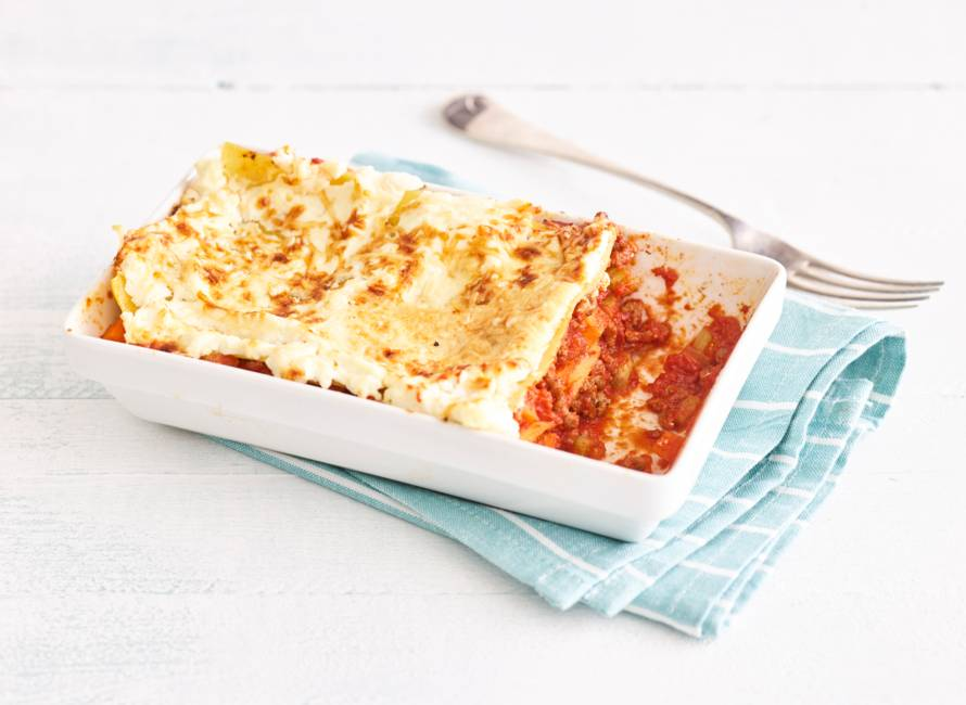 Glutenvrije lasagne bolognese