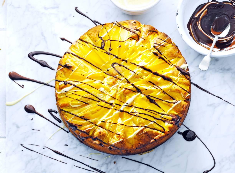 Mango-chocoladetaart