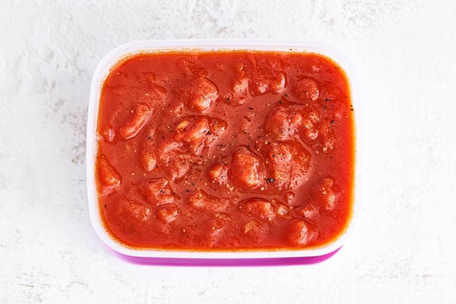 tomatenpuree saus maken