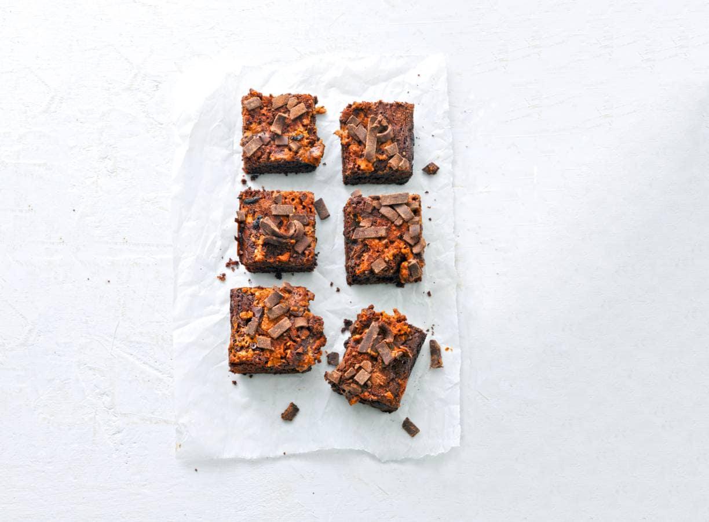 Chocolade-pindakaasbrownies