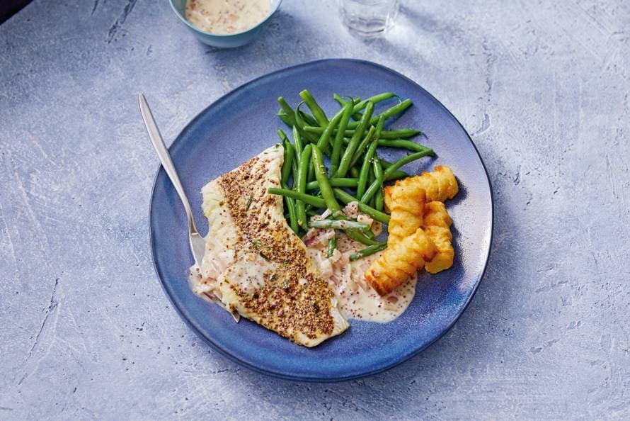 mosterdsaus vis maken