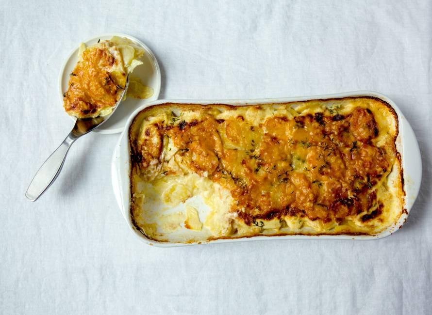 Aardappel-knolselderijgratin