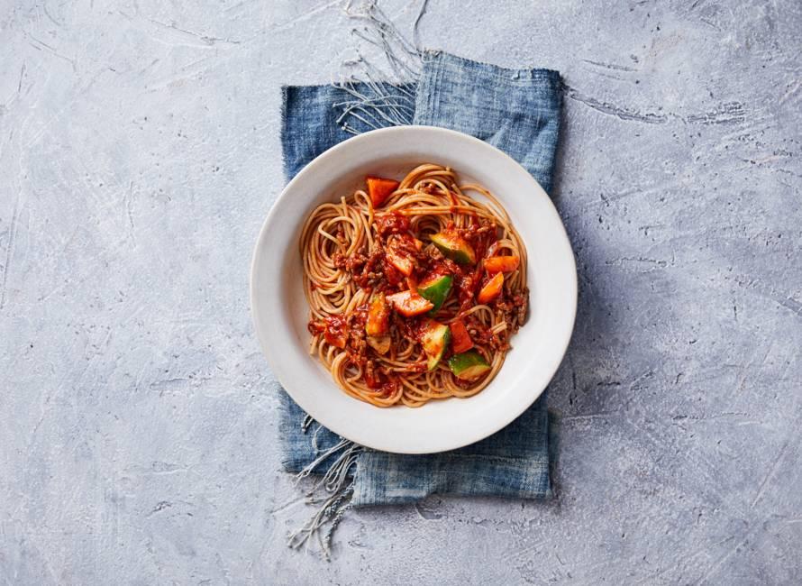 Spaghetti bolognese met gehakt en tomatensaus