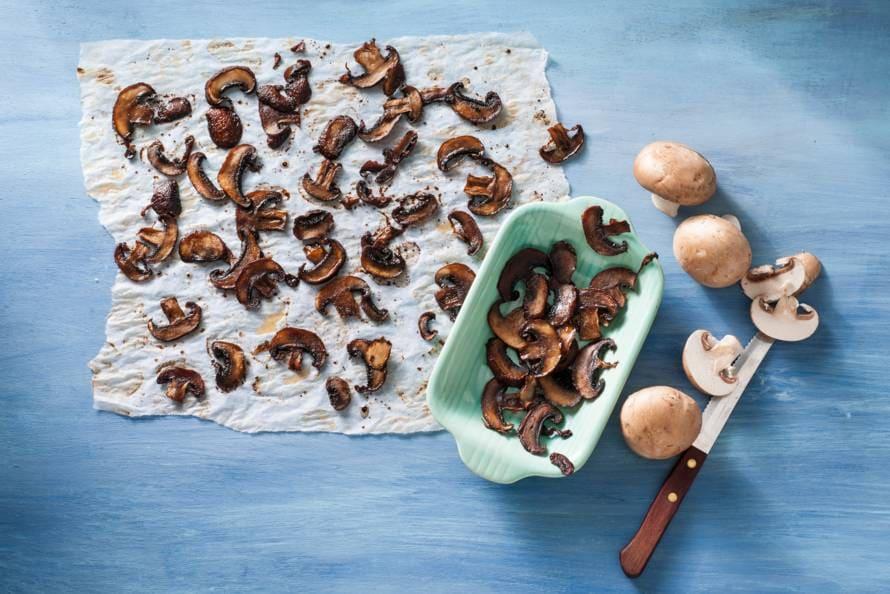 Smokey bits van champignons