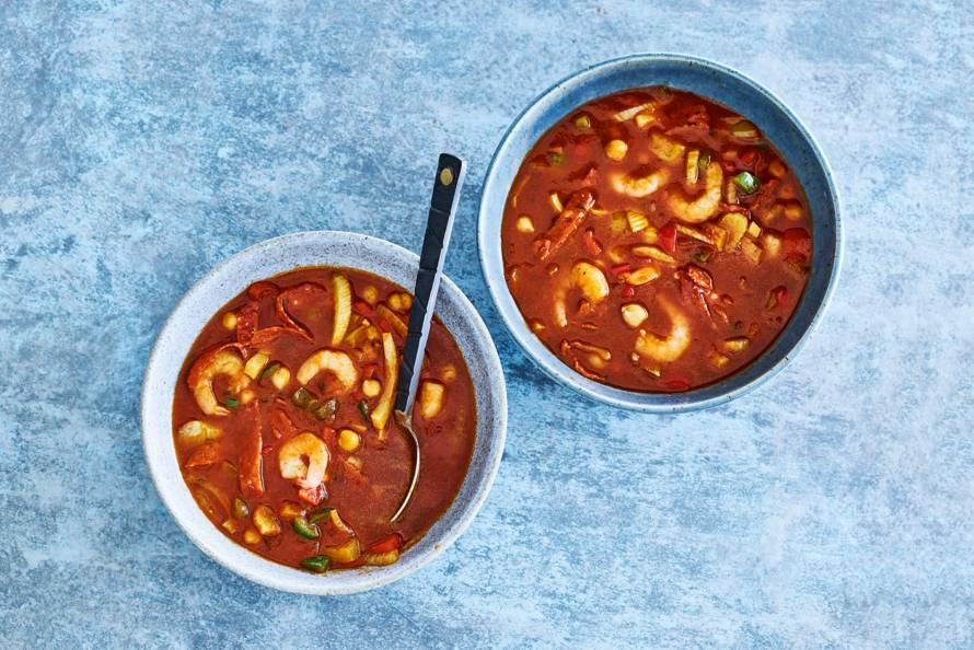 Goedgevulde Spaanse tomatensoep
