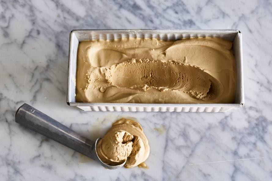Koffie-ijs zonder ijsmachine