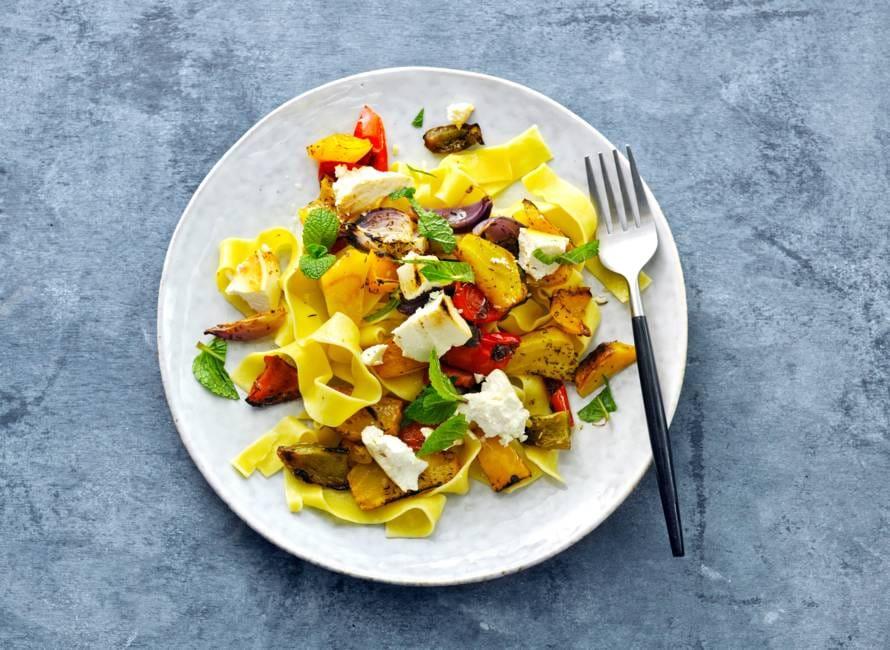 Geroosterde groenten en ricotta uit de oven