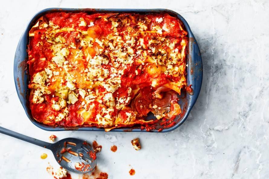 Lasagne met wintergroenten