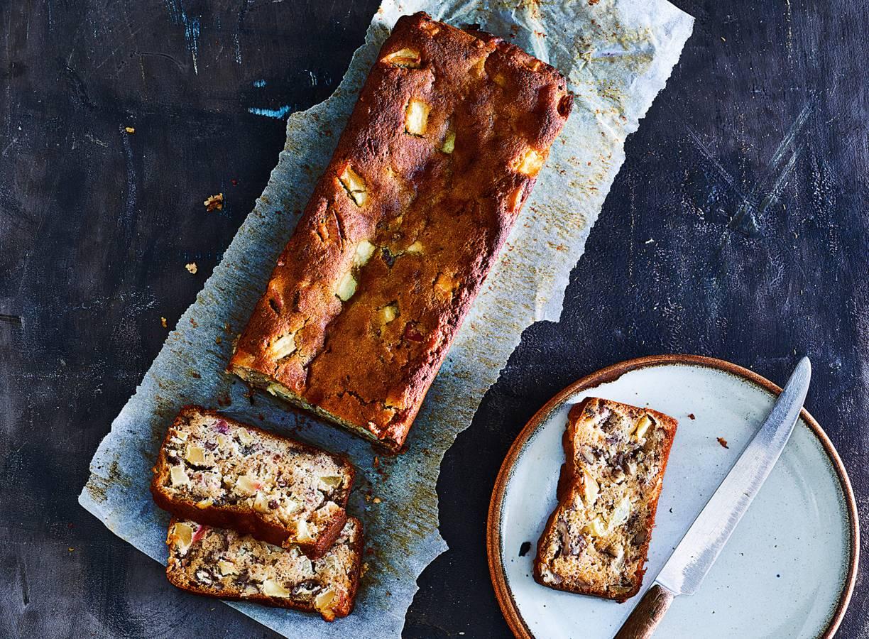 Appelcake van amandelmeel & honing