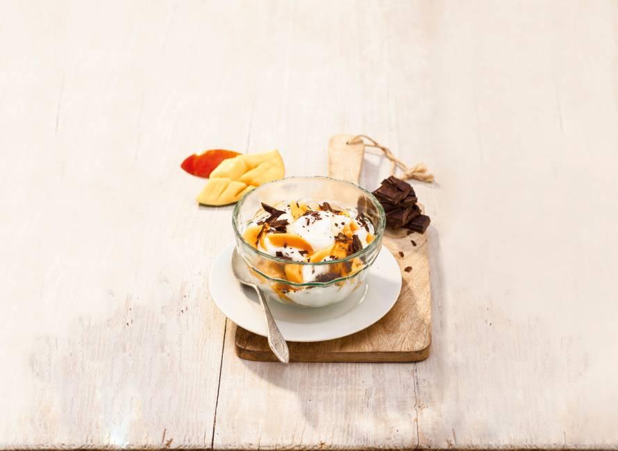 Dafne Schippers's kwark met mango, chocolade en walnoten