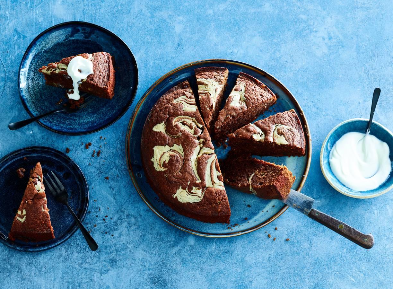 Chocoladetaart met fudge en tahin