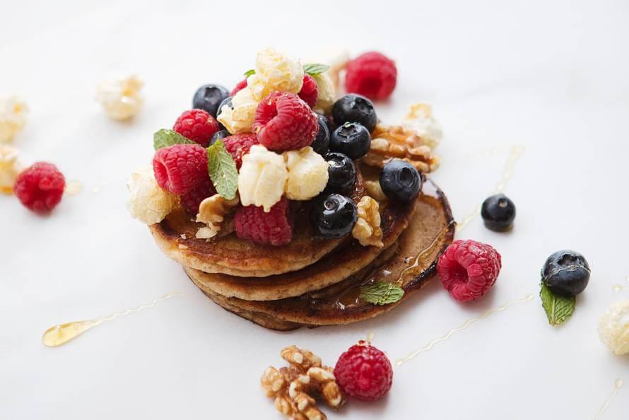 American pancakes met fruit en noten