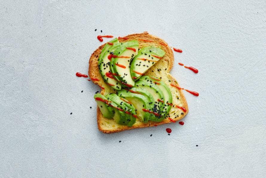 Sandwich met pittige avocado