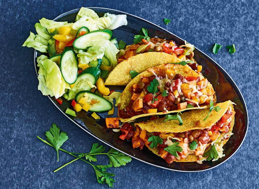 Gegratineerde taco's met burritoschotel