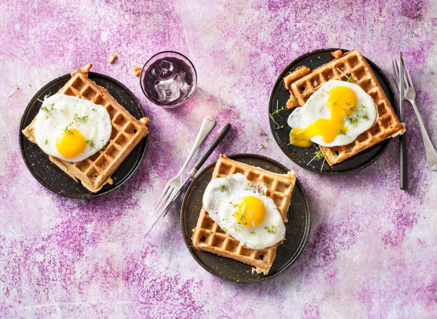 Croque madame speltwafel
