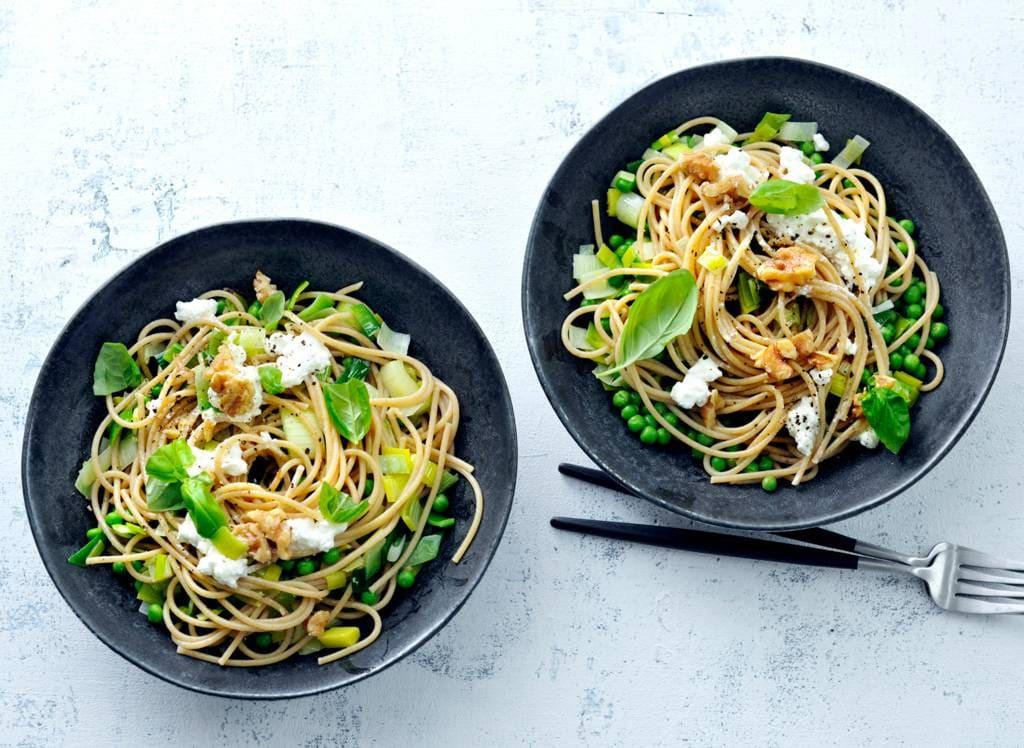 Recepten met volkoren pasta