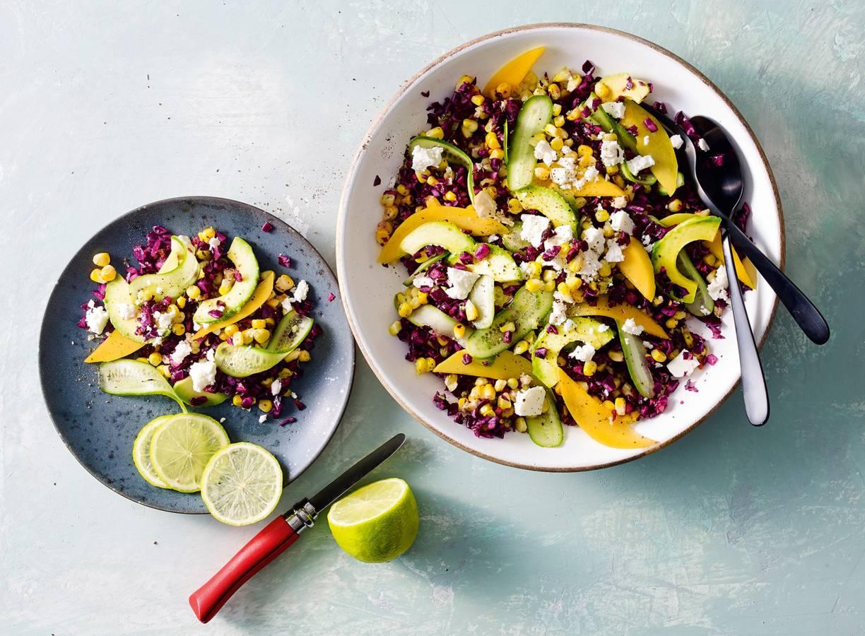 Mexicaanse maissalade met avocado & mango