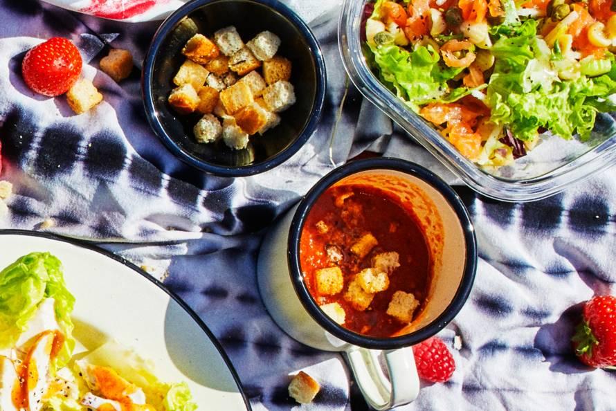 Eenvoudige gazpacho