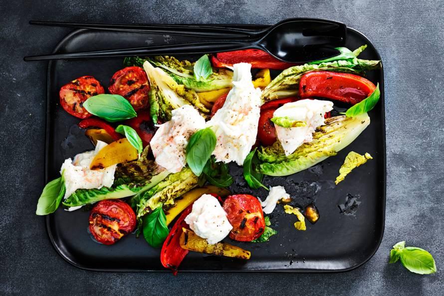 Gegrilde salade 'caprese'
