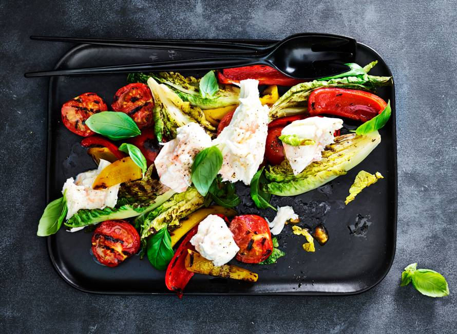 Gegrilde salade caprese
