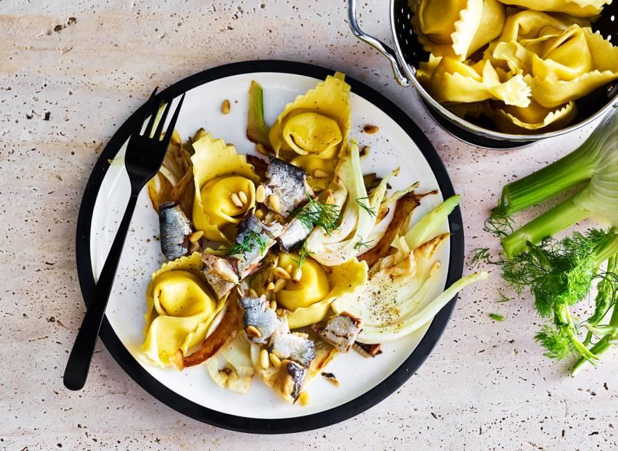 Tortelloni met venkel en sardines