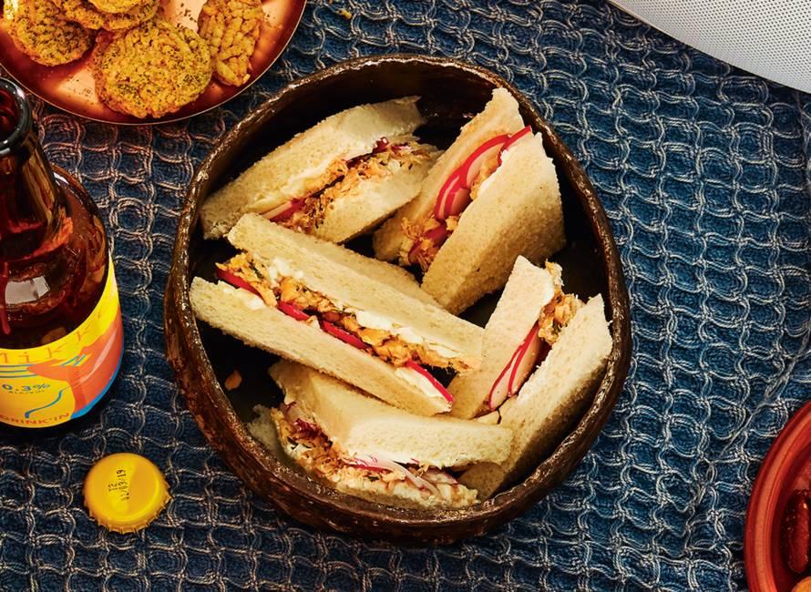 Zalm-dille-sandwiches