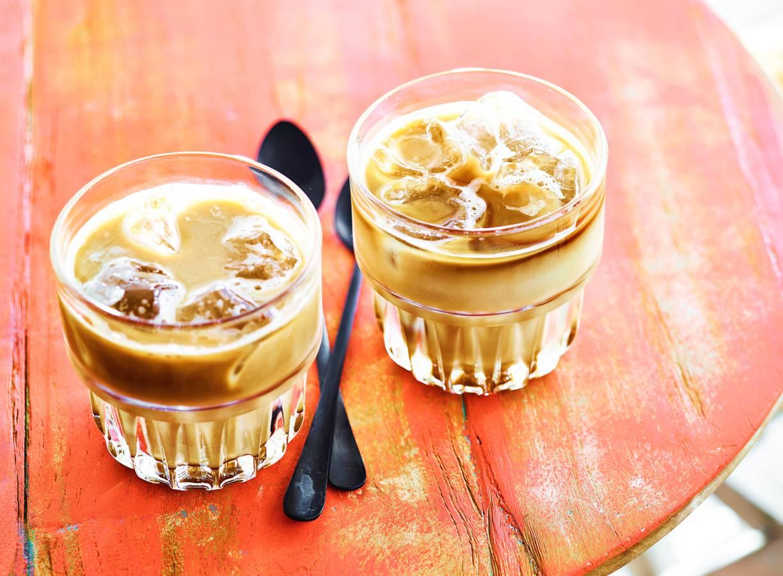 Iced latte caramel