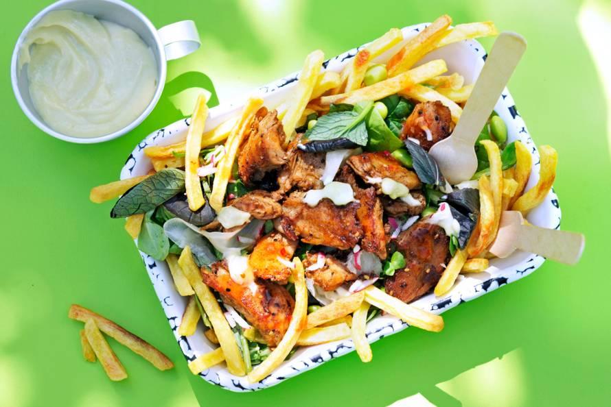 Vegan loaded fries Japanse stijl