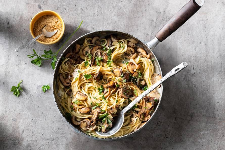 Vegan pasta al funghi