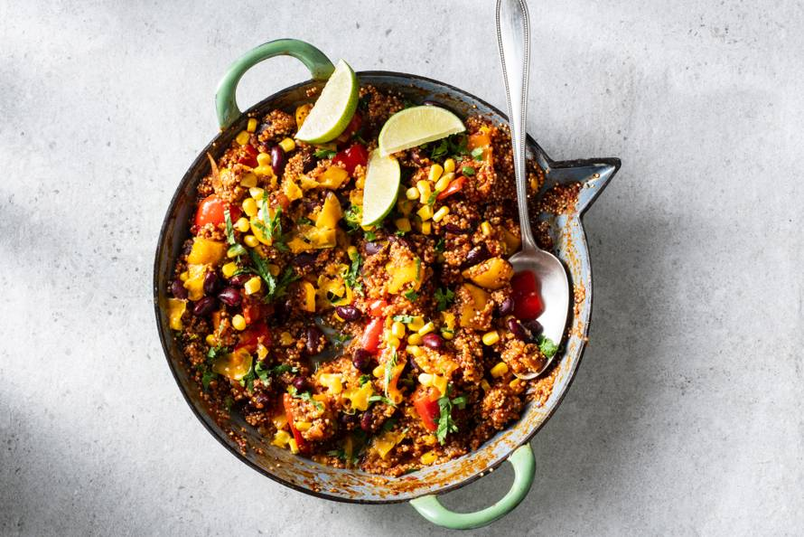 Mexicaans eenpansgerecht met quinoa