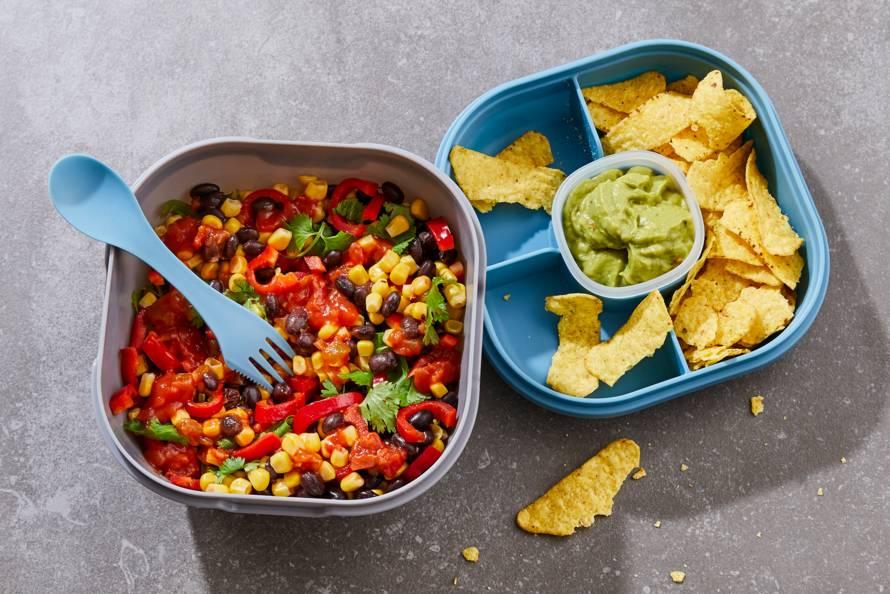 Chili sin carne-salade