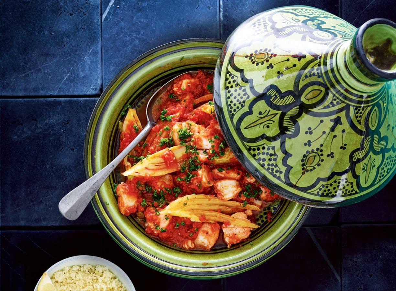Mediterrane visstoof met couscous