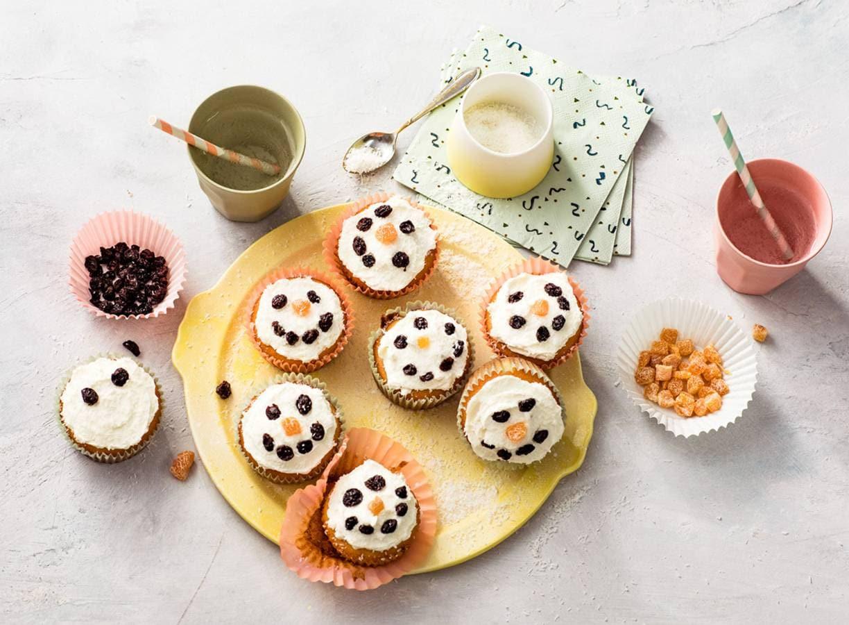 Sneeuwman-cupcakes