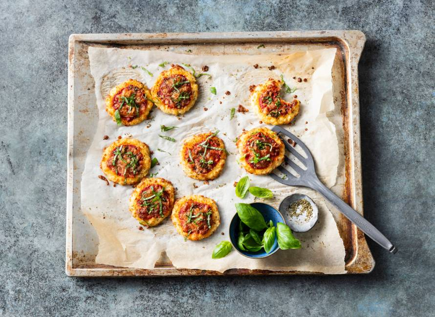 Mini-bloemkoolpizza's