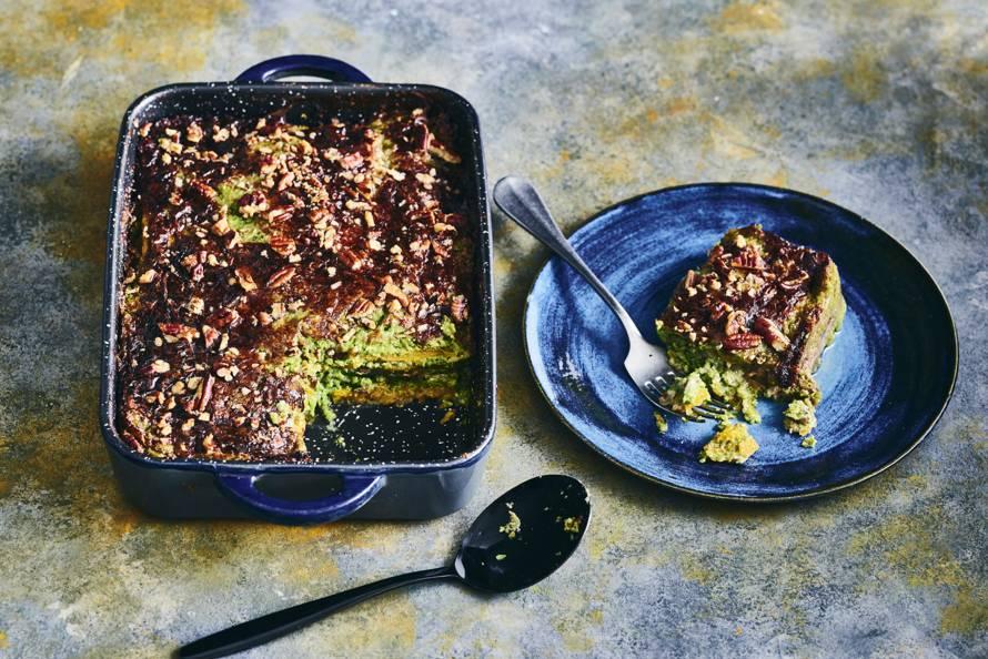 Pompoenlasagne met pecannoten & gorgonzolasaus