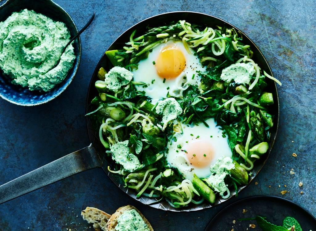 Vegetarische spinaziegerechten