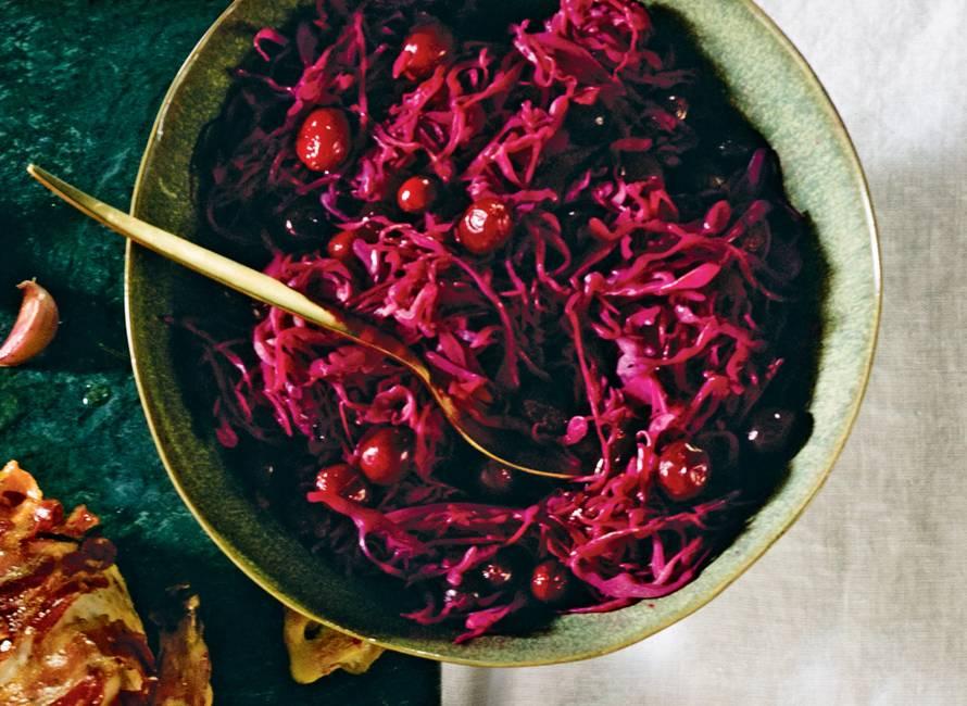 Rodekool met cranberry's