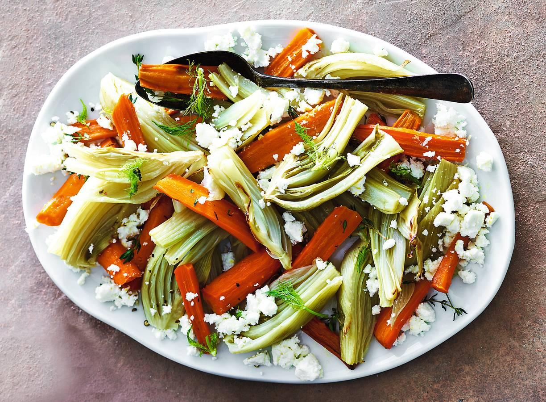 Geroosterde venkel & wortel met feta
