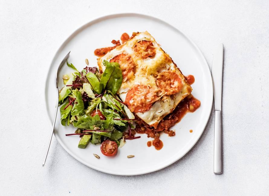 Lasagne met gruyere en bechamelsaus