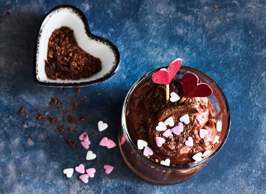 Valentijn chocolademousse