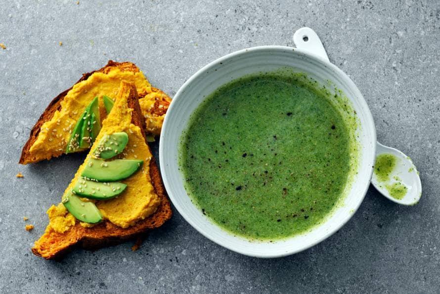 broccoli-courgettesoep - recept - allerhande - albert heijn