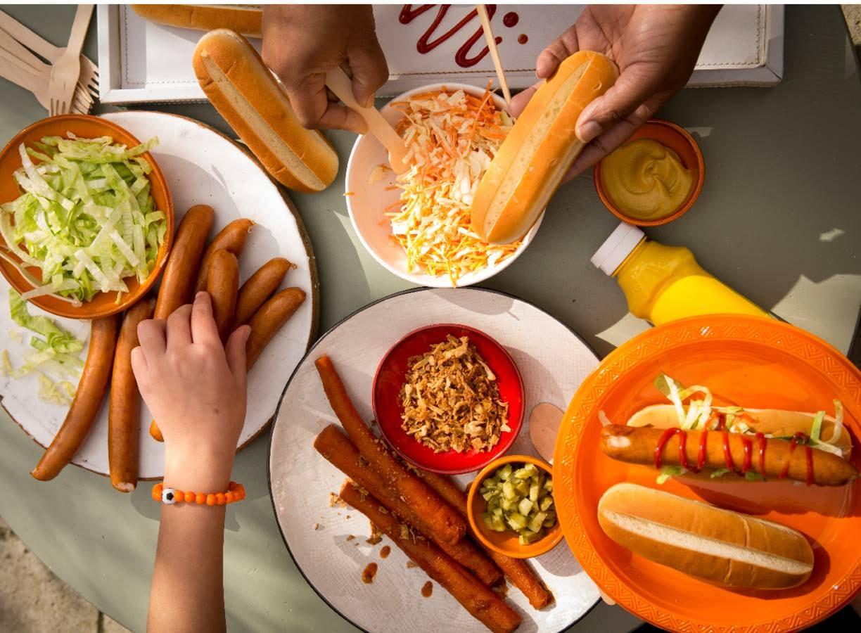 Hotdogbuffet met knakwortel