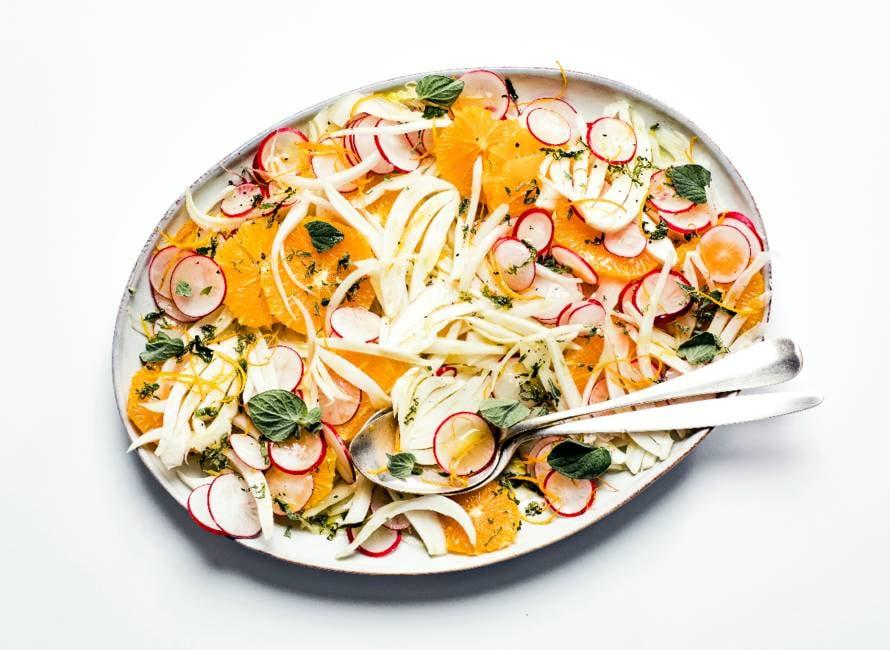 Venkel-sinaasappelsalade met oregano