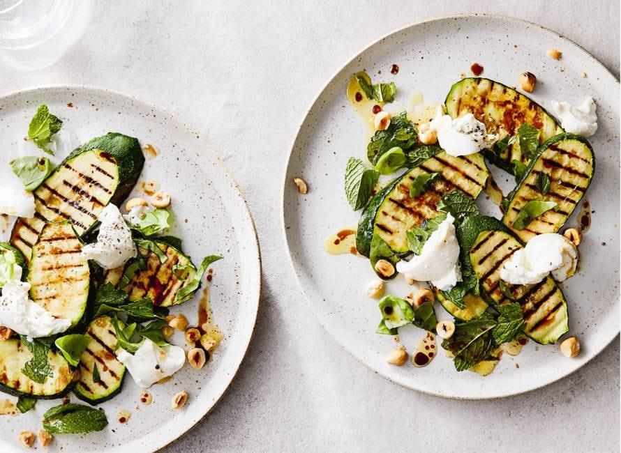 Salade van gegrilde courgette