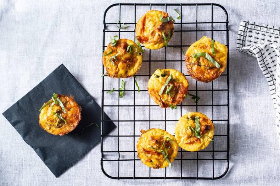 Broccoli-ei-kaasmuffins