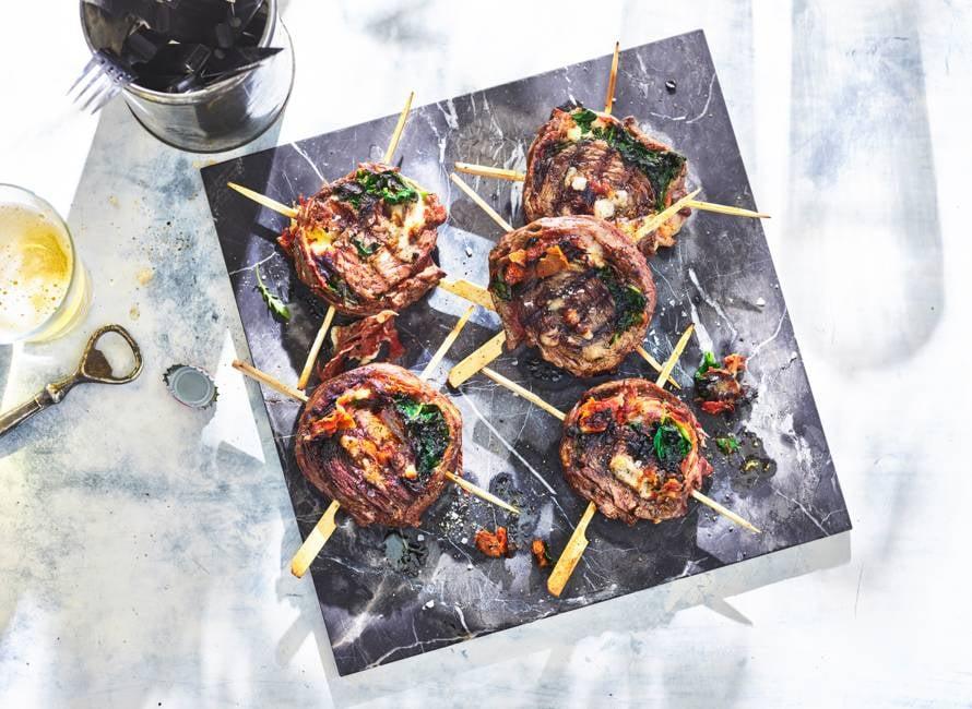 Flank steak pinwheels (gevulde bavetterollade) van Jord Althuizen
