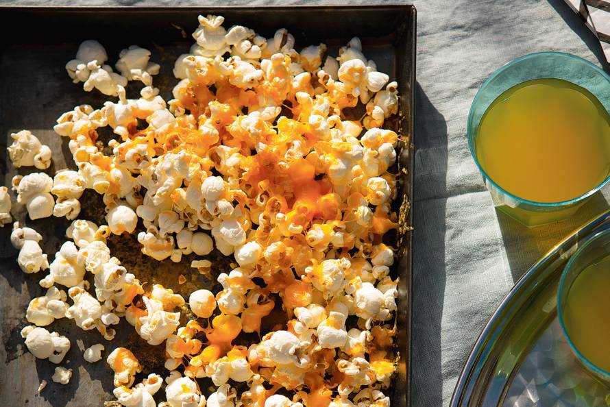 Oranje popcorn (zoet én hartig)