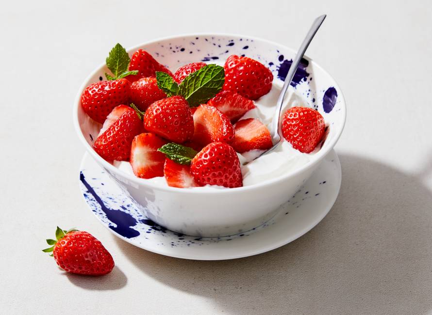Snelle anijshangop met aardbeien