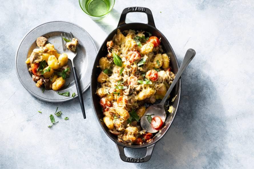 Gnocchi ovenschotel met romige kip